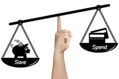 Skala-Balancen-Abwehr gibt die lokalisierte Handholding aus Lizenzfreie Stockbilder