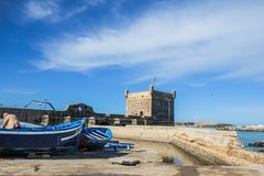 Skala de la Ville, Essaouira, Morocco. royalty free stock photos