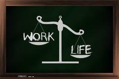 Skala der Arbeit und des Lebens Stockbilder