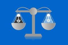 Skala dla sprawiedliwości Fotografia Royalty Free