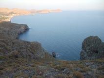 Skala Eressou. The beach of Skala Eressos, Lesvos, Greece royalty free stock photo