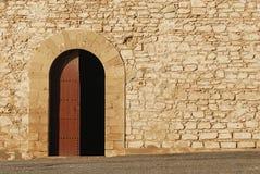 The skala, Essaouira, Morocco. Morocco. Essaouira. The Skala du Port, door of the bastion on left side Stock Images