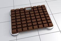 skala för badrum 3D - chokladdesign stock illustrationer
