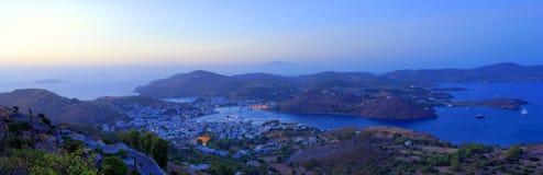 Skala harbor on Patmos Island Royalty Free Stock Photos