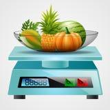 Skala mit Früchten Stockbilder