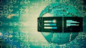 Skala på finansiell graf lager videofilmer