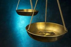 Skala von Gerechtigkeit Stockbild
