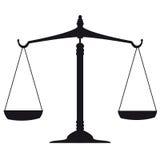 Skala von Gerechtigkeit Lizenzfreie Stockfotos