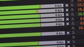 Skala von ladenden Dateien durch ftp Video vom Bildschirm Laden Sie herunter oder laden Sie eine Datei stock video