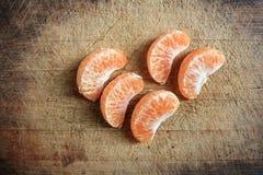 Skalad apelsin Arkivfoto