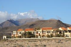 skalad by för kanariefågelfuerteventura ö la Arkivfoto
