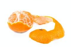 skalad isolerad mandarin Royaltyfri Fotografi