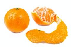 skalad isolerad mandarin Royaltyfria Foton