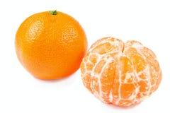 skalad isolerad mandarin Arkivbild