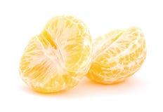 skalad mandarine Arkivbild