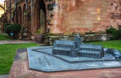 Skalamodell av Carlisle Cathedral Royaltyfri Foto