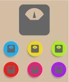 Skalasymbol med färgvariationer, vektor Royaltyfri Fotografi