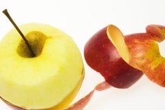 skalat äpple Arkivbilder