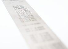 Skalatabellierprogramm Stockfoto