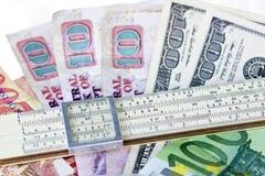 Skalatabellierprogramm auf den Haushaltplänen Lizenzfreies Stockbild