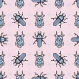 Skalbaggar klipska maryls, klottra för modell för kryp sömlöst stock illustrationer