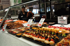 Skaldjur för försäljning i Sydney Fish Market Royaltyfria Foton