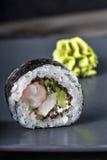 Skaldjur sköt sushi för black set Fotografering för Bildbyråer