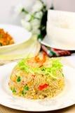 Skaldjur stekt Rice Arkivfoton