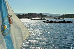 Skaldjurplockning i Galiciankusten Arkivbilder