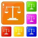 Skalen balancieren Ikonensatz-Vektorfarbe lizenzfreie abbildung
