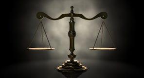 Skalen von Gerechtigkeit Lizenzfreies Stockbild