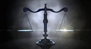 Skalen von Gerechtigkeit Lizenzfreie Stockfotos