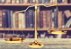 Skalen von Gerechtigkeit Stockbilder