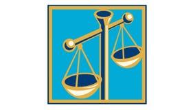 Skalen von Gerechtigkeit Retro vektor abbildung