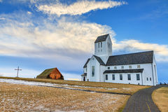 Skalholt Cathedral. On the golden circle route in Iceland Stock Images