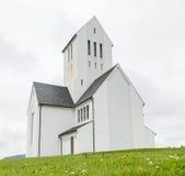 SKALHOLT, IJSLAND - JULI 24: De moderne Skalholt-kathedraal werd voltooid in 1963, voorgesteld op 24 Juli, 2016 en wordt is gesit Stock Foto