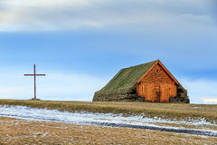 Skalholt turf building Royalty Free Stock Photos