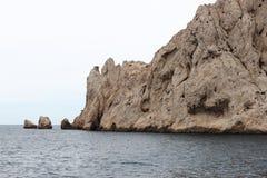 Skaliści calanques wybrzeża, Marseille, Francja Obraz Stock