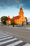 Skalica, Slovakia. Church in a square of the old town in Skalica royalty free stock photos