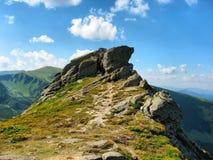 Skalista góra w lecie Obrazy Royalty Free