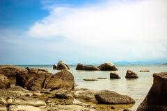 Skalista Lamai plaża Koh Samui Zdjęcie Stock