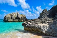Skalista linia brzegowa Bermuda zdjęcie royalty free