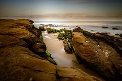 Skalista linia brzegowa San Diego Obraz Stock