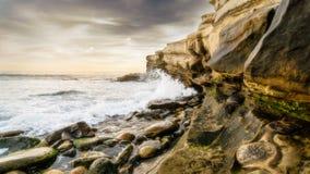 Skalista linia brzegowa San Diego Zdjęcie Royalty Free