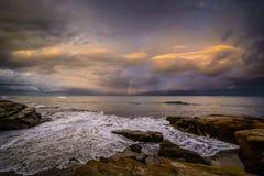 Skalista linia brzegowa San Diego Zdjęcie Stock