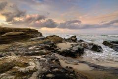 Skalista linia brzegowa San Diego Zdjęcia Royalty Free