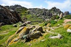 Skalista linia brzegowa w Sardinia, Włochy obrazy stock