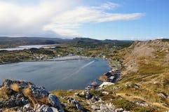 skalista linii brzegowej wioska fotografia royalty free