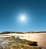 Skalista Northumberland zatoka zdjęcie royalty free