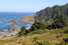 Skalista Pacyficzna linia brzegowa Zdjęcia Royalty Free